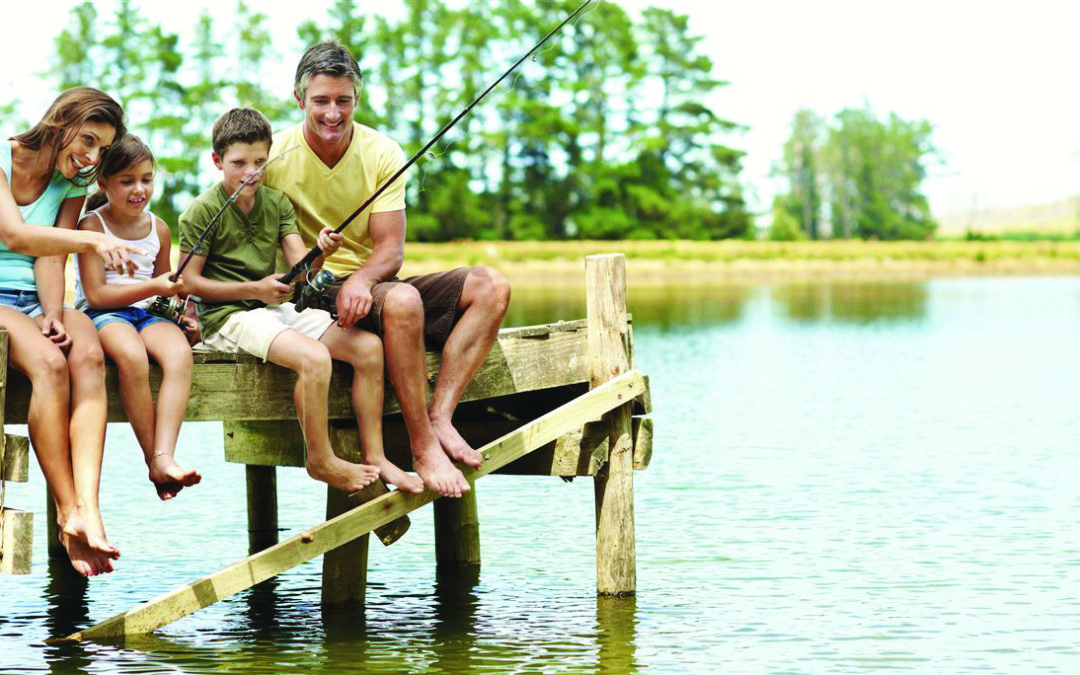 Regain the balance-Fishing with family