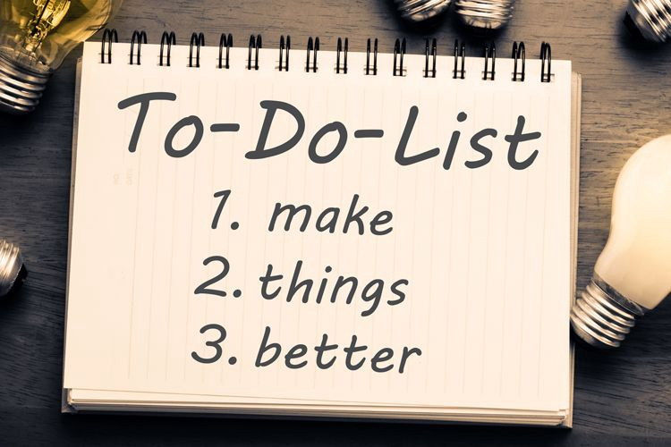 Focus On Yourself-Make A To-Do List Each Day