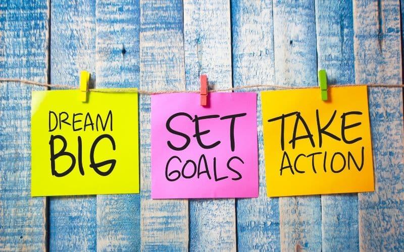 set goal take action