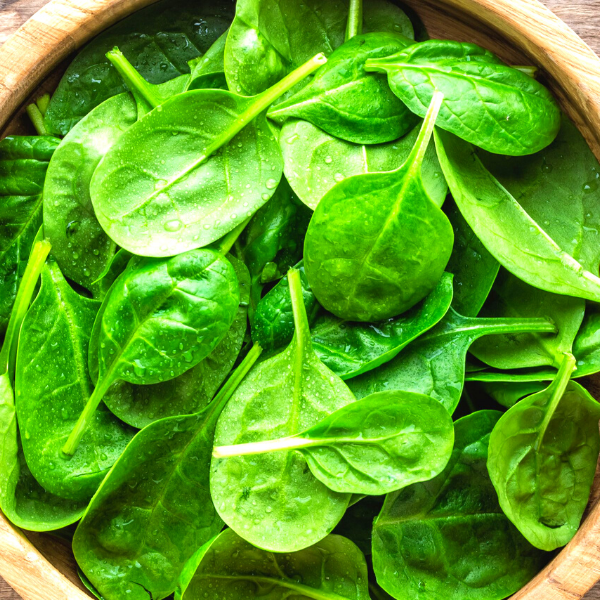 Spinach as high source of potassium