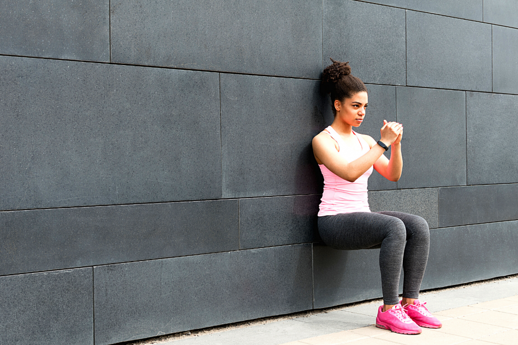 Lose weight after pregnancy #2.3 Wall Squat Exercise